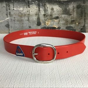 Levi's RARE Red Rubber Belt, S